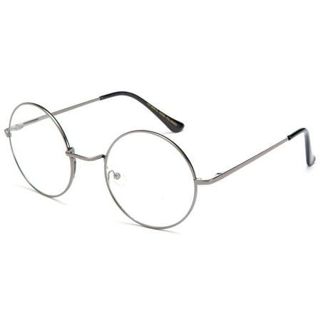 dcf4121633 Newbee - John Lennon Glasses Hippy 60 s Vintage Retro Round Designer  Inspired Walrus Style Sunglasses   Clear Lens Eye Glasses with Comfortable  Spring ...