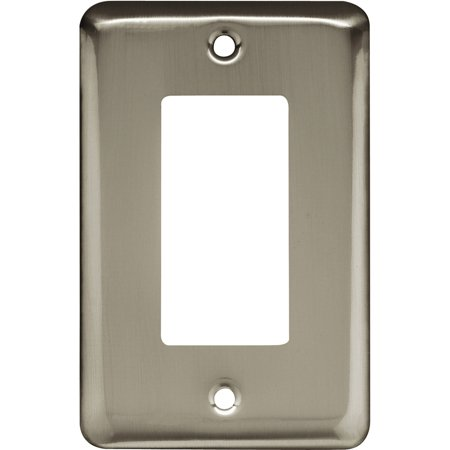 Brainerd Rounded Corner Single Decorator Wall Plate, Available in Multiple (Round Decorator)