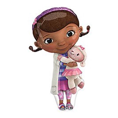 ONE (1) Doc McStuffins XL Happy Birthday PARTY balloons Decorations Supplies (Doc Mcstuffin Party Supplies)