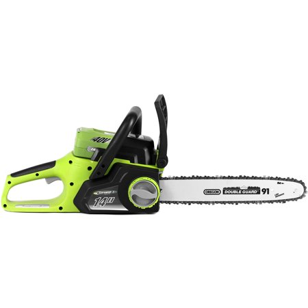 Earthwise lcs35814 14 58 volt cordless chainsaw brushless motor earthwise 40v lithium ion 2 ah 14 chain saw greentooth Gallery