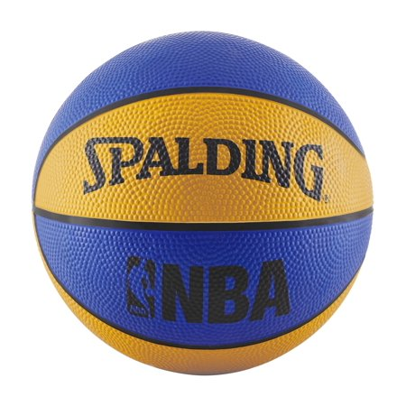 "Spalding NBA Mini 22"" Basketball - Blue/Orange"