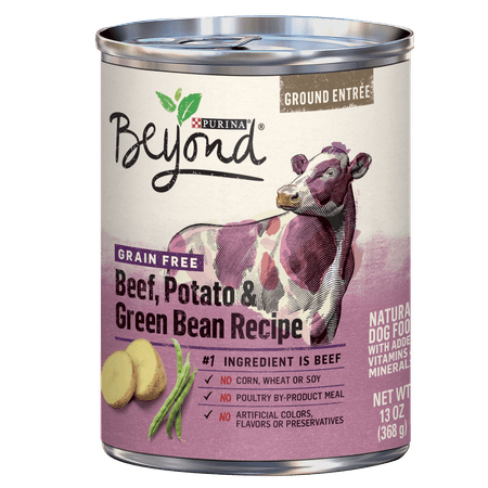 - Purina Beyond Grain Free, Natural Pate Wet Dog Food, Grain Free Beef, Potato & Green Bean Recipe - (12) 13 oz. Cans