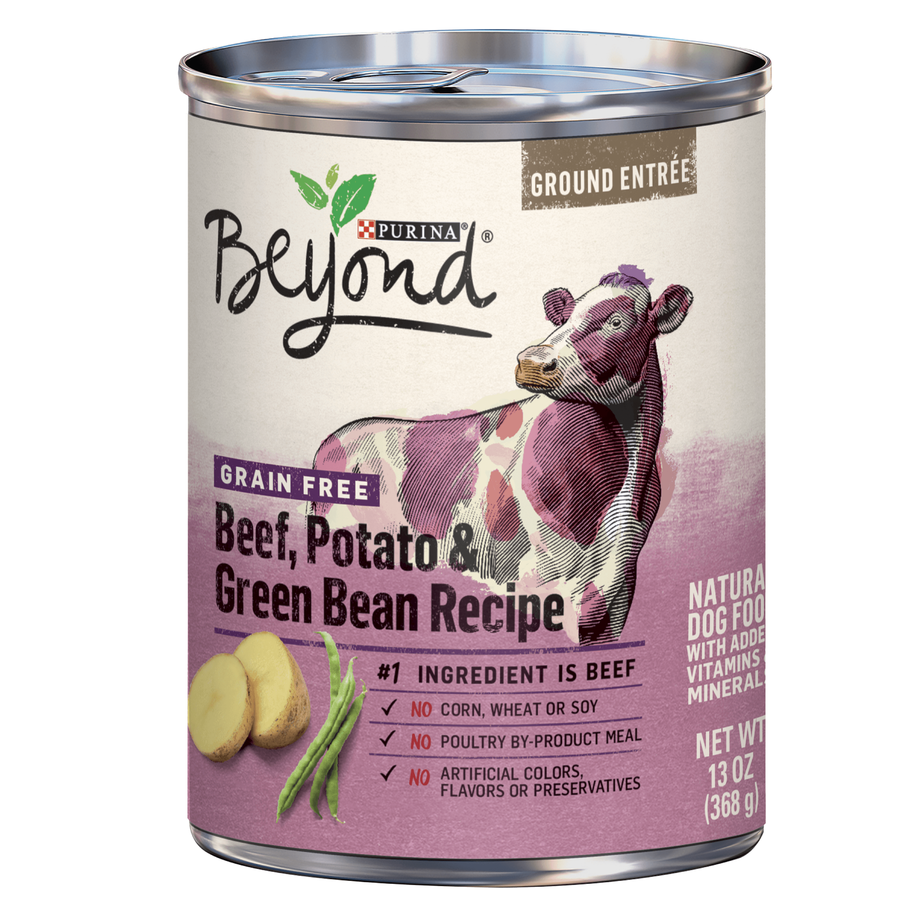 Purina Beyond Grain Free Beef, Potato & Green Bean Recipe Ground Entree Adult Wet Dog Food - 13 oz. Can