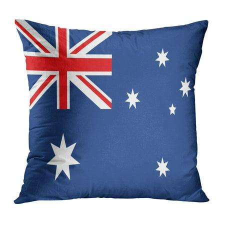 ECCOT Blue Southern Australia Red Cross Constellation Kangaroo Queen Aborigen Pillow Case Pillow Cover 18x18 inch