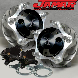 Jamar Performance Pro-X Front Disc Brake Kit For Combo Link Front Spindles