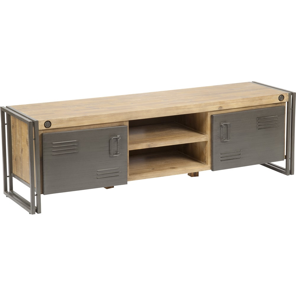 Aurelle Home Miller Lake Rustick Industrial TV Table by Overstock