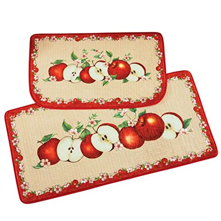 Collections Etc Apple Orchard Cushion Rug Set - 2