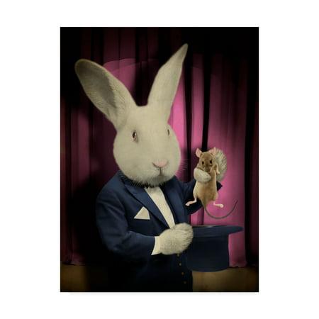 Trademark Fine Art 'Rabbit Magician' Canvas Art by J Hovenstine Studios