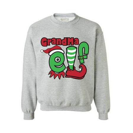 Tacky Hanukkah Sweater (Awkward Styles Grandma Elf Sweashirt Christmas Elf Sweater Ugly Christmas Sweater Women Matching Family Christmas Pajamas Elf Suit for Grandmom Funny Christmas Gifts Tacky Christmas Ugly)