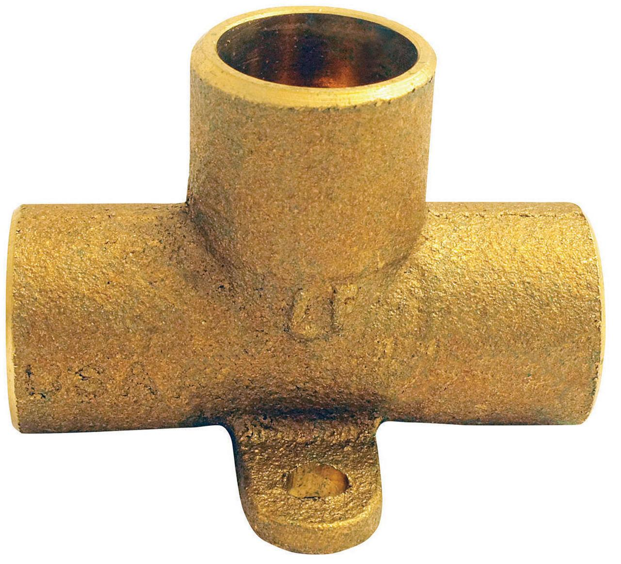 EPC 10156950 Drop Ear Tube Tee, 1/2 in, Sweat, Wrot Copper