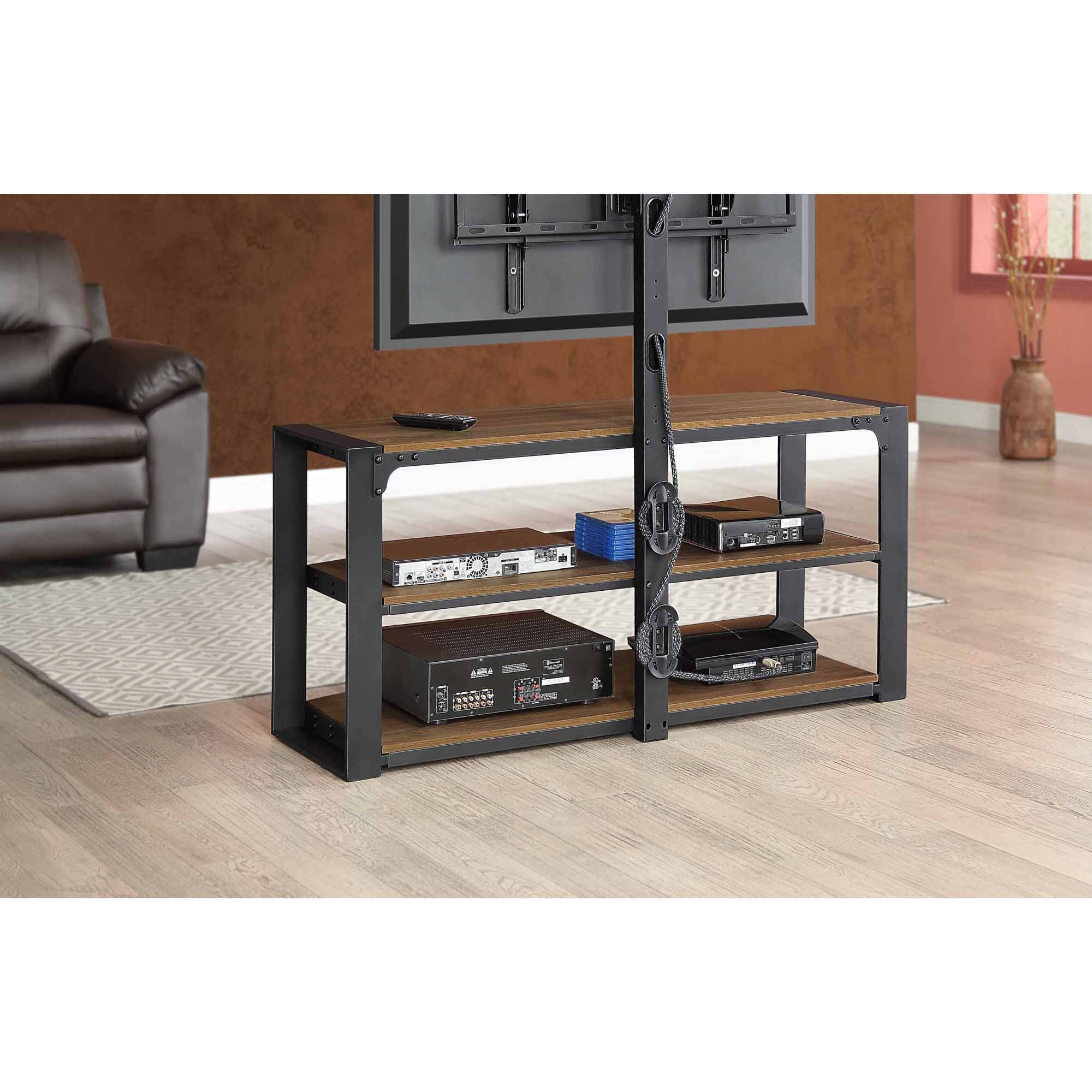 Santa Fe Bedroom Furniture Whalen Santa Fe 3 In 1 Tv Stand For Tvs Up To 65 Warm Ash Finish