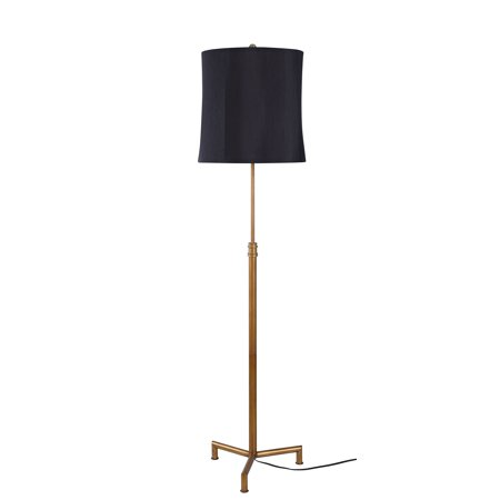 - Better Homes & Gardens - Traditional Brass Floor Lamp - Brass Finish
