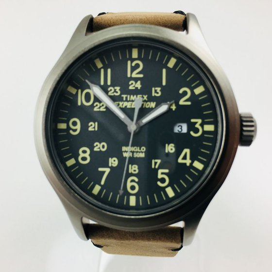 617aef609 Men's Expedition Scout Watch, Brown Leather Strap - Walmart.com