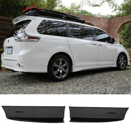 Fits 11-16 Toyota Sienna SE Mp Style Rear Bumper Lip Apron Pairs -