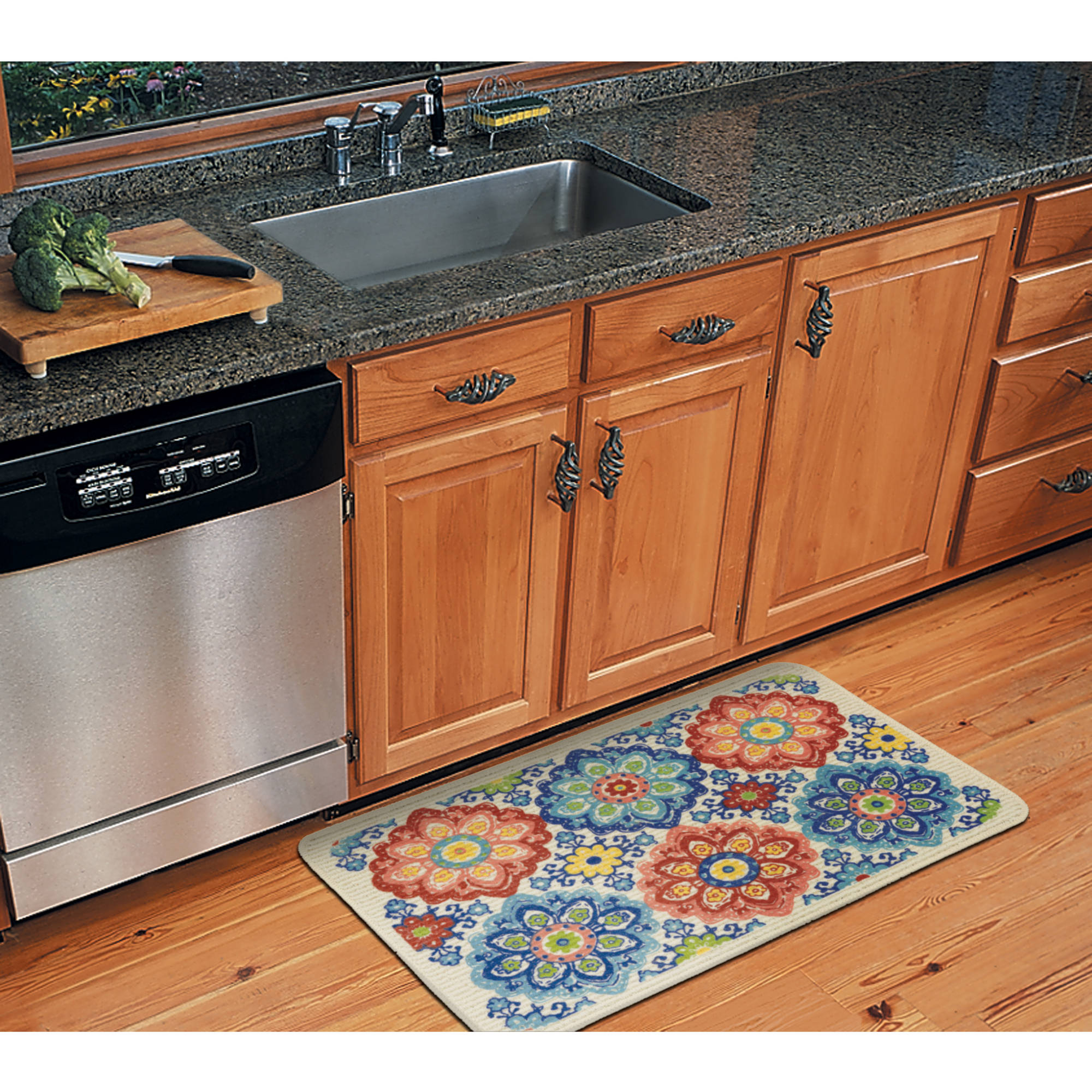 Perfect Mainstays New Medallion Kitchen Rug