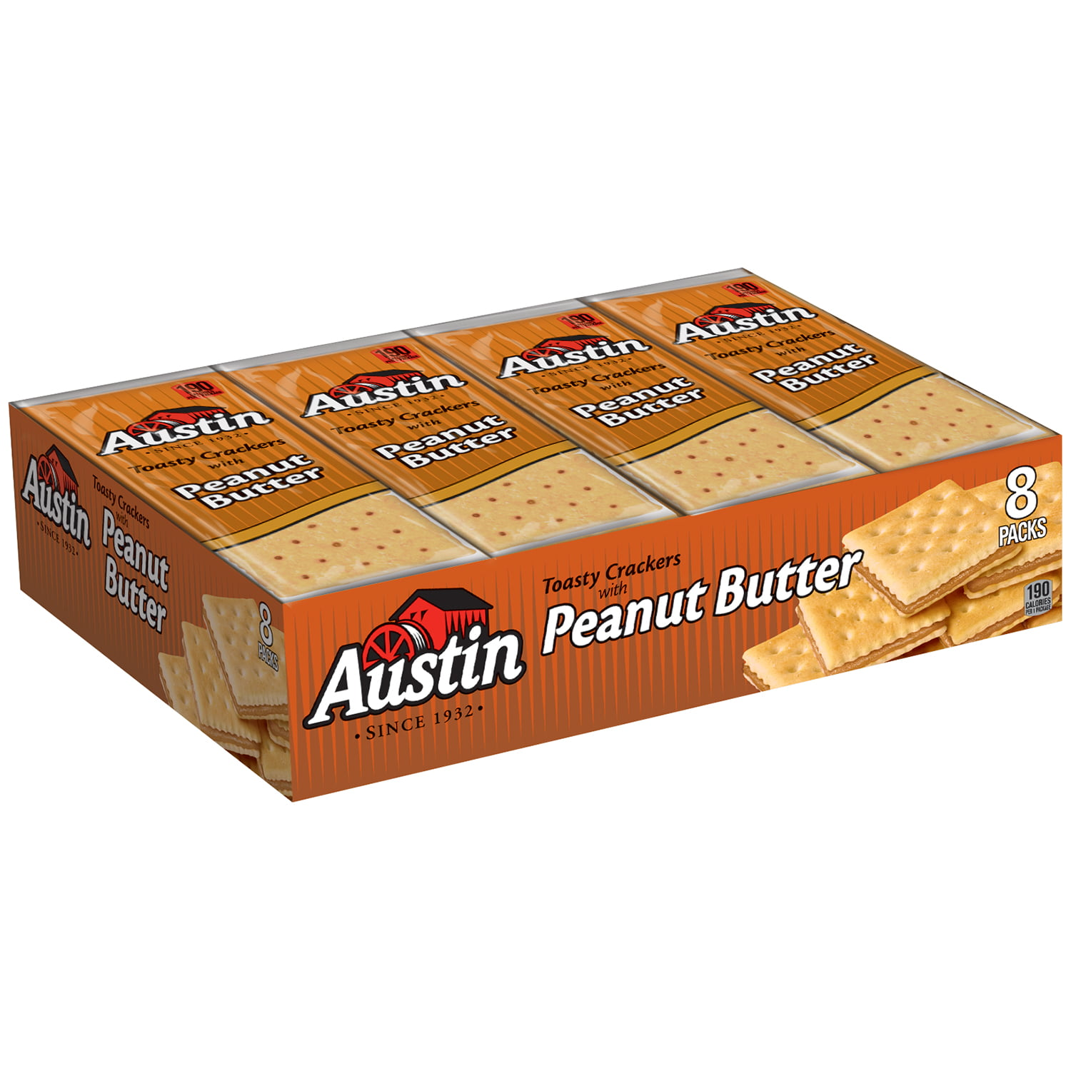 Austin Toasty Crackers with Peanut Butter Cracker Sandwiches, 1.38 oz, 8 count by Kellogg Sales Co.