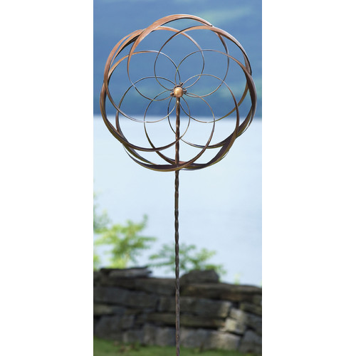 Ancient Graffiti Flower Staked Pinwheel (Set of 2)