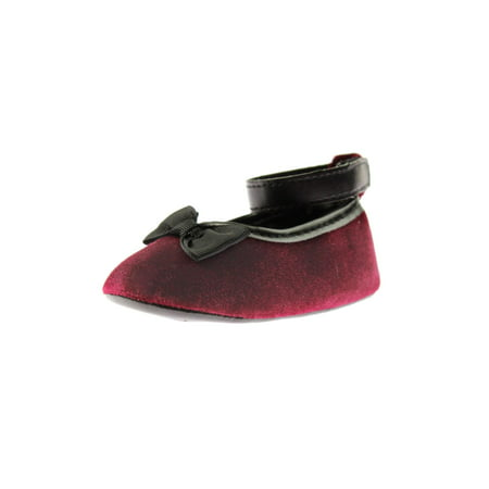 Luvable Friends Bow Velvet Ballet Flats