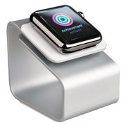Minisuit Charging Dock Station Stand for Apple Watch 38 or 42mm (Vertical Silver)
