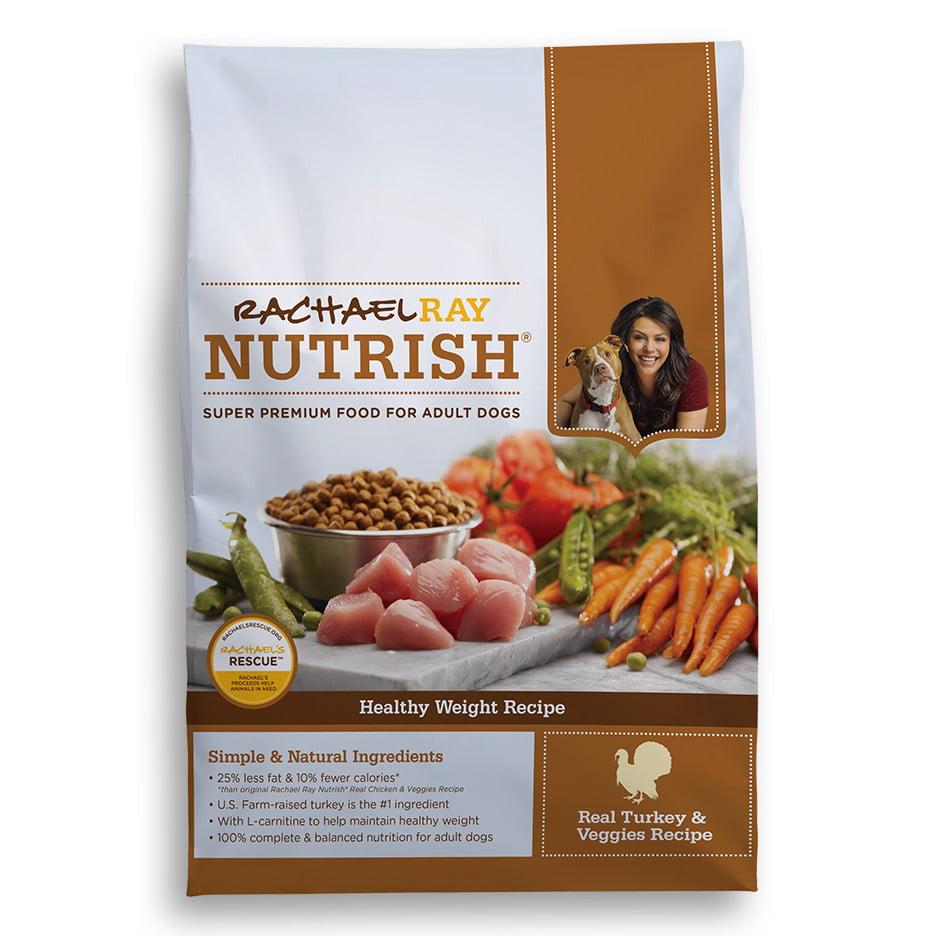 Rachael Ray Nutrish Healthy Weight Natural Dry Dog Food, Turkey & Veggies Recipe, 14 lbs