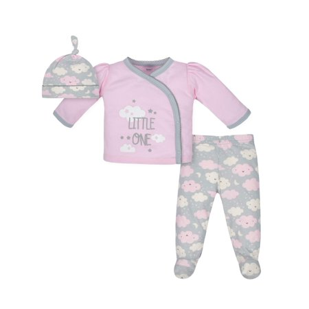 Take Me Home Shirt, Cap and Footed Pant Outfit Set, 3pc (Baby Girls) (Baby Skirts)