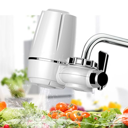 Link Filter Tap - Kitchen Tap Faucets Water Filter Mount Water Purifier + Washable Ceramic Cartridge