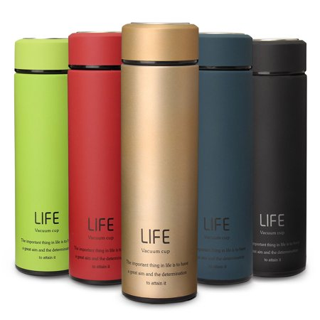 500ML/18Oz Hot Stainless Steel Vacuum-Insulated Thermos leak-proof Insulated Container Coffee Tea Beverage Water Hydration Bottle Flasks Travel Mug 5 Colors Portable Slim
