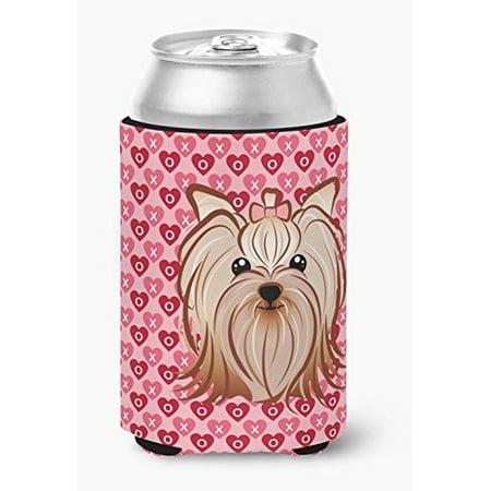 Caroline's Treasures BB5274CC Yorkie Yorkishire Terrier Hearts Can or Bottle Hugger, Can Hugger, multicolor - image 1 de 1