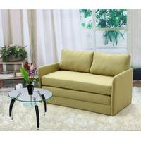 US Pride Furniture Ray-Ray Convertible Sleeper Loveseat, Brown