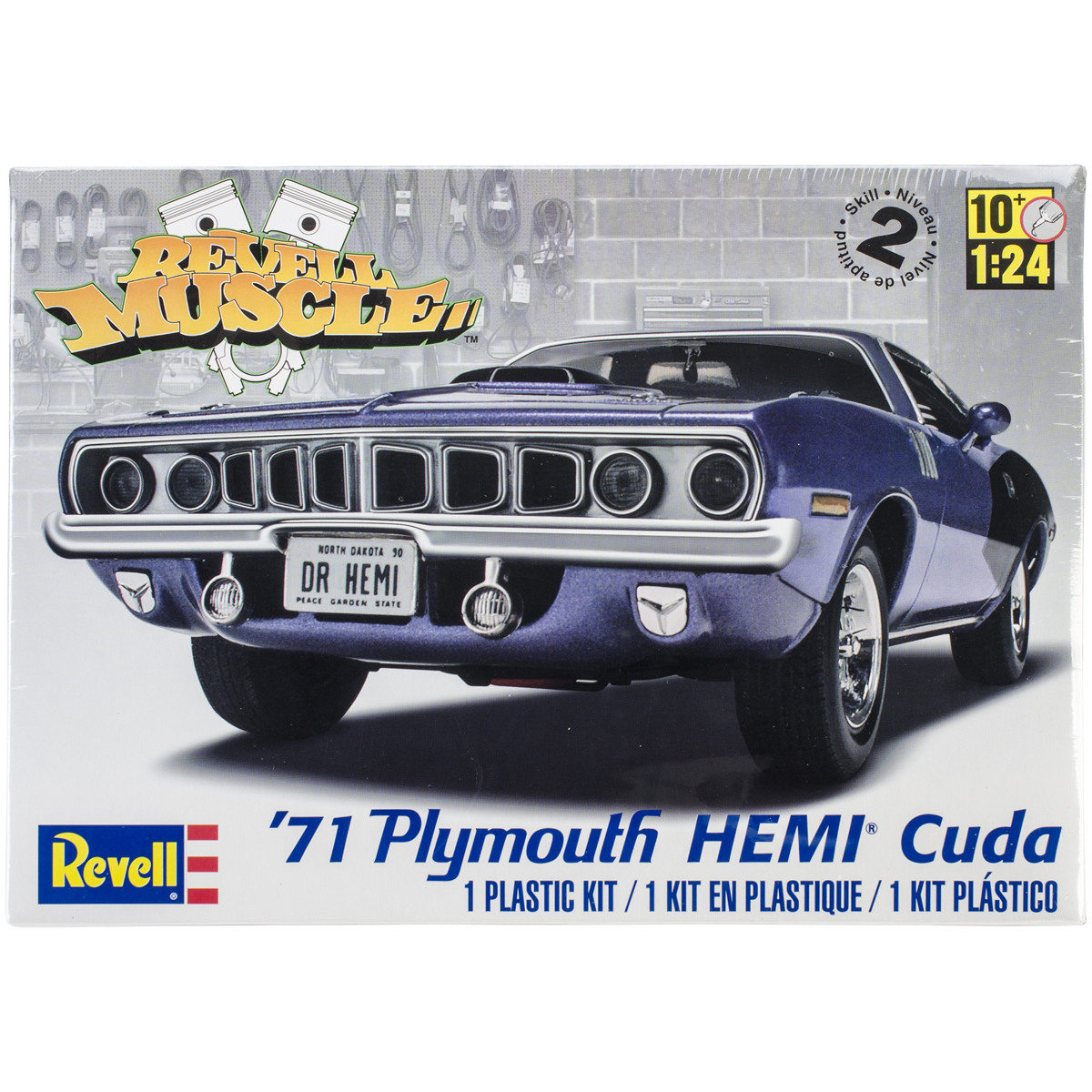 Plastic Model Kit '71 Plymouth Hemi 'Cuda Hardtop 1:25