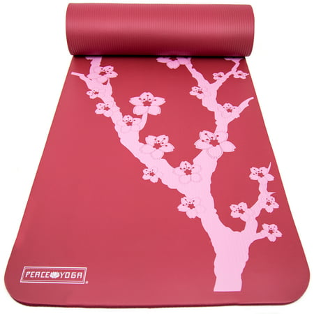 Peace Yoga Extra Thick Exercise Mat Red Cherry 189 Quot Inch