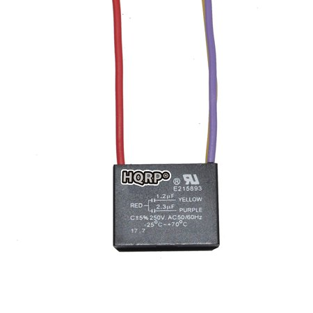 HQRP Ceiling Fan Capacitor CBB61 1.2uf+2.3uf 3-Wire plus HQRP ...