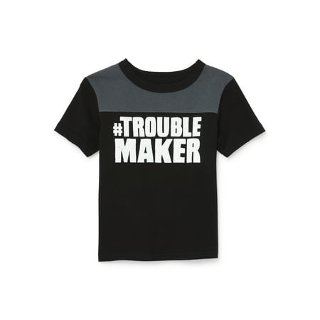 Short Sleeve Yoke Graphic T-shirt (Baby Boys & Toddler Boys)
