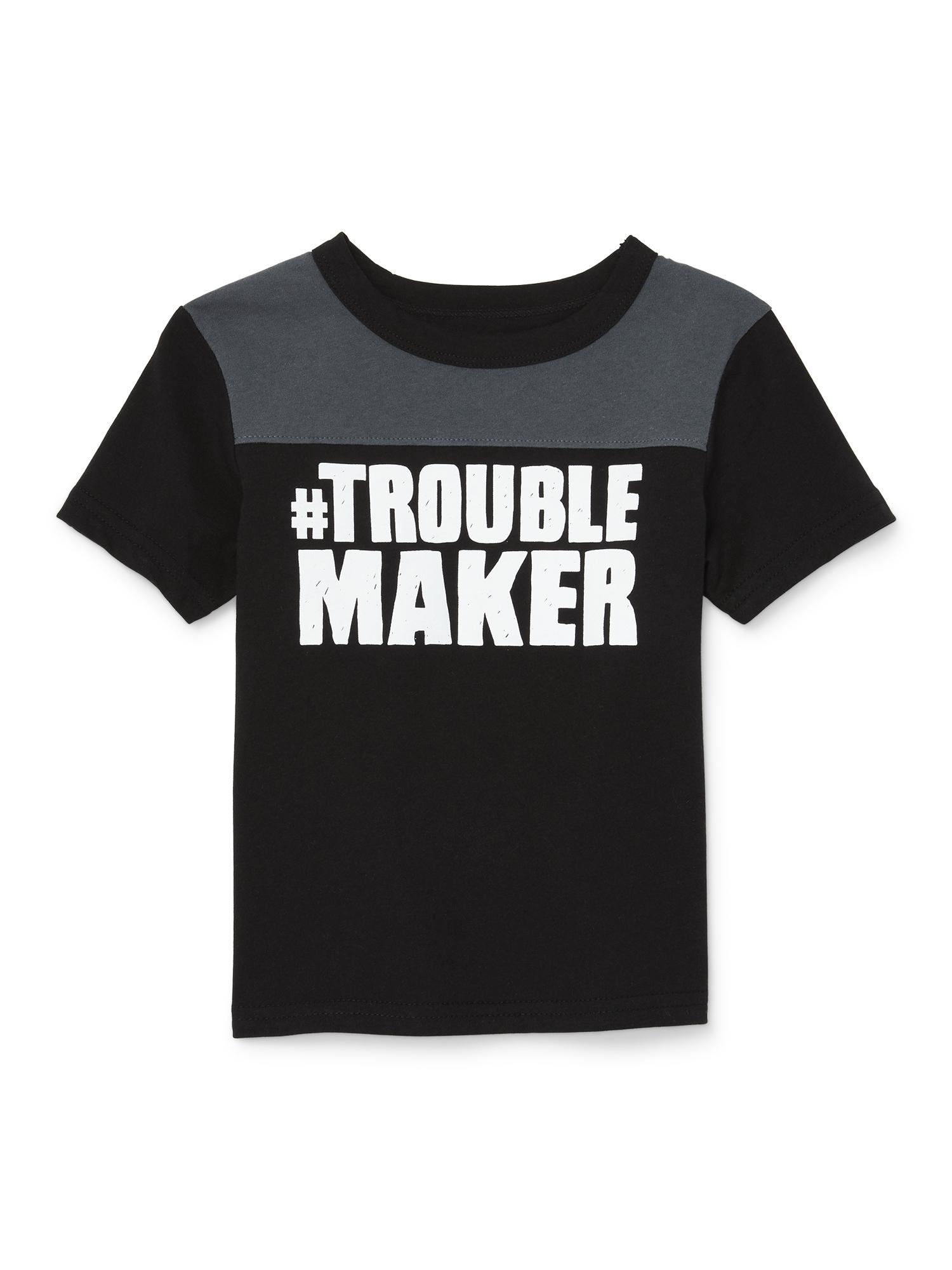 Short Sleeve Yoke Graphic T-shirt (Baby Boys & Toddler Boys)