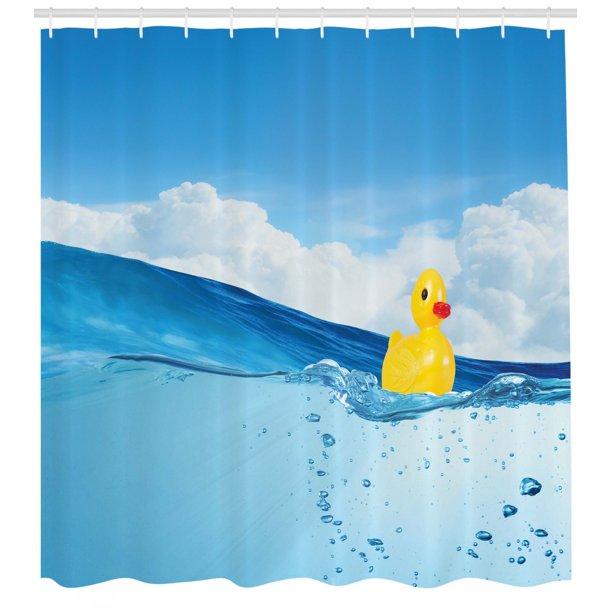 Rubber Duck Shower Curtain Little