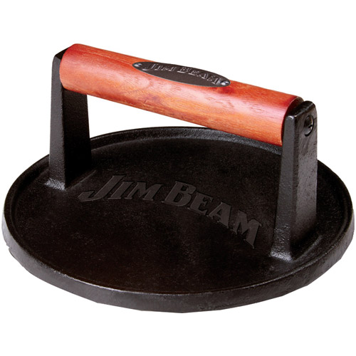 Jim Beam Cast Iron Burger Press with Wood Handle, Jb0158