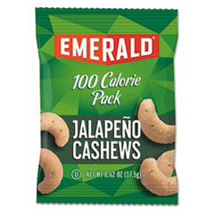 Emerald, 100 Calorie Jalapeno Cashews, 0.62 Oz, 7 Ct