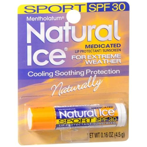 Mentholatum Natural Ice Sunscreen/Lip Protectant SPF 30 Sport 1 Each