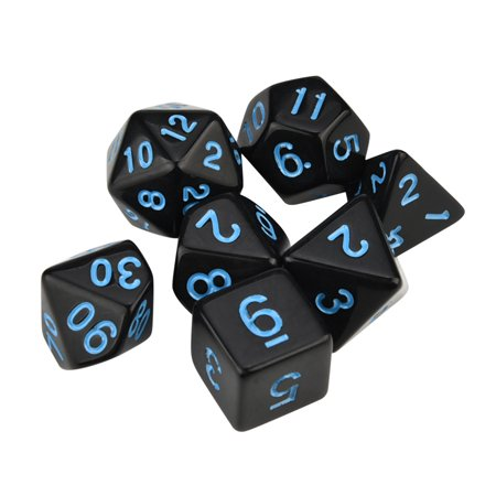 7pcs/Set TRPG Game Dungeons & Dragons Polyhedral D4-D20 Multi Sided Acrylic Dice (22 Sided Dice)