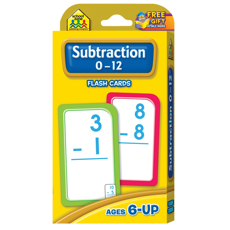 (12 PK) SUBTRACTION 0-12 FLASH CRDS