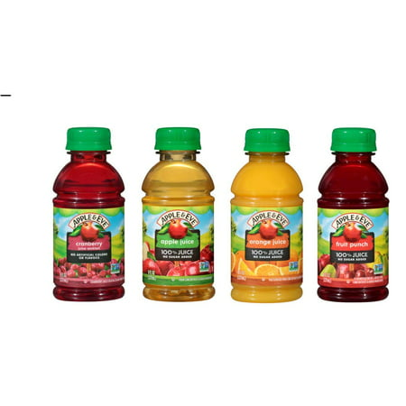 Flavored Apple (Apple & Eve On The Go 100% Juice 4 Flavor Variety Pack, 8 oz (Pack of 12))
