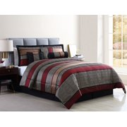 Mainstays Preston Woven Jacquard 7-Piece Comforter Set with BONUS Pillows and Shams