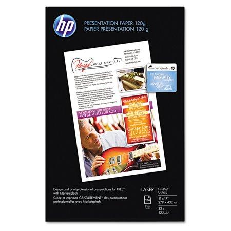 HP Color Laser Presentation Paper, 95 Brightness, 34lb, 11 x 17, White, 250/Pack -HEWQ2547A - Hp Color Laser Presentation Paper