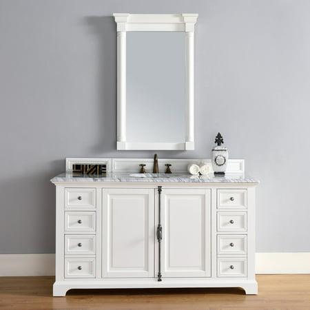 James Martin Providence 60 in. Single Bathroom (60 Inch Bathroom Vanity Single Sink White)