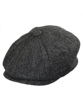 Product Image Baby Herringbone Wool Blend Newsboy Cap - 48cm (18-24 M) -  Charcoal. Jaxon Hats 910f36a2394b