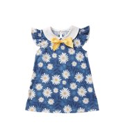 Anmino Baby Girl Clothes Floral Bow Collar Ruffle Sleeve Blouse Summer Top 3-6M