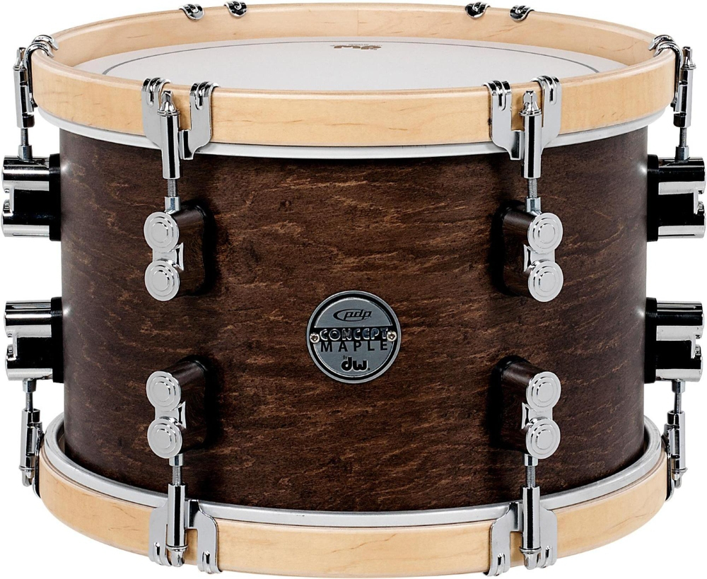 PDP by DW Concept Maple Classic Tom with Natural Hoops 12 x 8 in. Tobacco by PDP by DW
