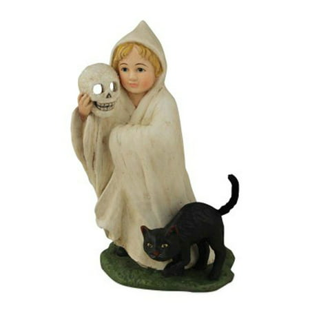 Bethany Lowe Halloween TD5047 Ghosty Child With Black Cat (Three Black Cats Halloween Song)