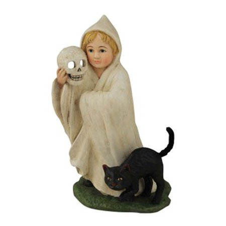 Bethany Lowe Halloween TD5047 Ghosty Child With Black Cat (Halloween Cat Designs)