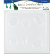 """Resin Jewelry Mold 6.5""""X7""""-Natural Stones - 5 Cavity"""